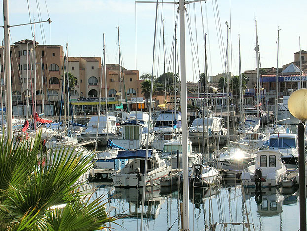 The marina at Port Leucate
