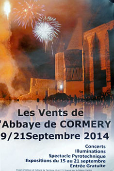 Poster of event at Abbaye.  Photo copyrighted by Cold Spring Press.  All rights reserved.