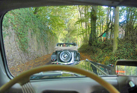 Vintage car following vintage car!  Copyright Guy de Vanssay.  All rights reserved.