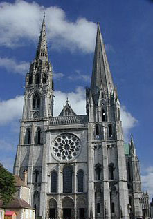 Chartres Cathedral.  Photo courtesy of Wikipedia.