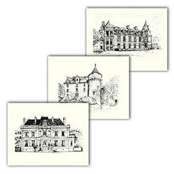 French Château Note Cards