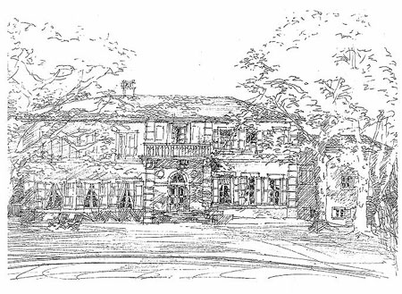 Artist's rendering of Château Juvenal.  Copyright Cold Spring Press/George Ohanian.  All Rights Reserved.