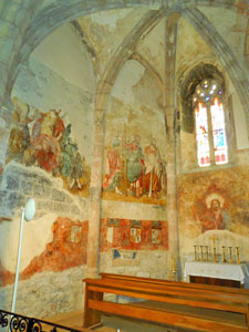 Frescoes in St-Pierrre Church. Cold Spring Press.  All rights reserved.