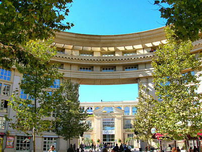 Sweeping architecture of Montpellier.  Photo copyright Cold Spring Press.  All rights reserved.