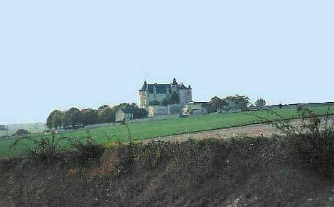 Distant view of Château de la Motte