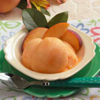 Peach Sorbet.  Photo Courtesy of www.tasteofhome.com
