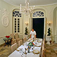 Château Robert chef and dining room