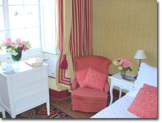 guest room at the château
