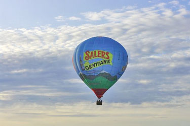 Montgolfier balloon in the Cantal
