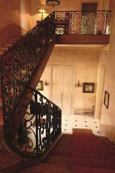 Foyer and stairs in evening