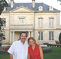 Ronald and Margaret Rens at Château Coulon Laurensac